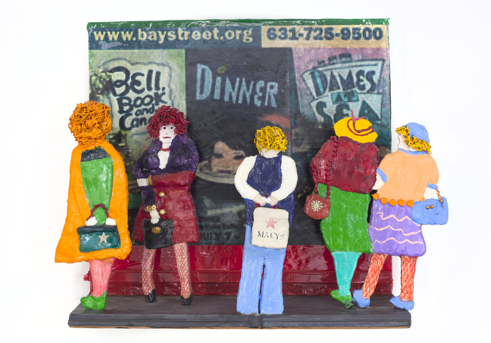 - Bay Street Theatre2011Wood, clay medium, mixed media14 x 17 ¾ x 5 inches