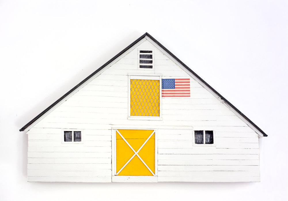 - Yellow Barn2008Wood and mixed media10 5/8 x 18 x 1 ½ inches