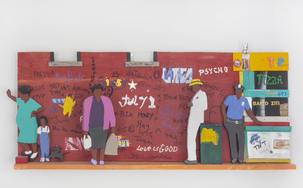 - Street Scene2003Wood and mixed media17 x 40 x 3 ½ inches