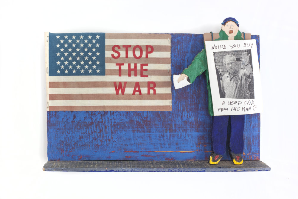 - Stop the War2011Wood and mixed media11 x 16 x 3 inches