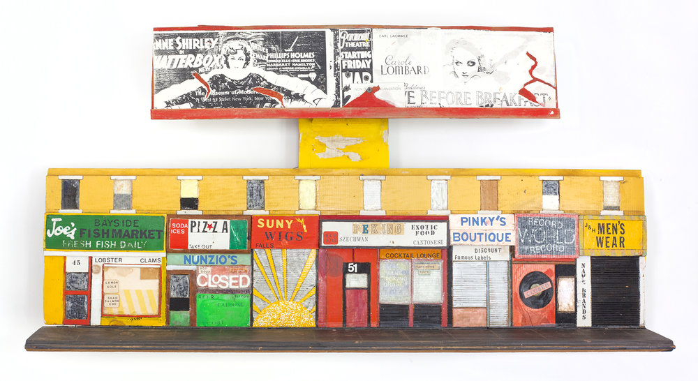 - Queens Blvd.c. 2004Wood and mixed media27 x 40 x 7 ½ inches