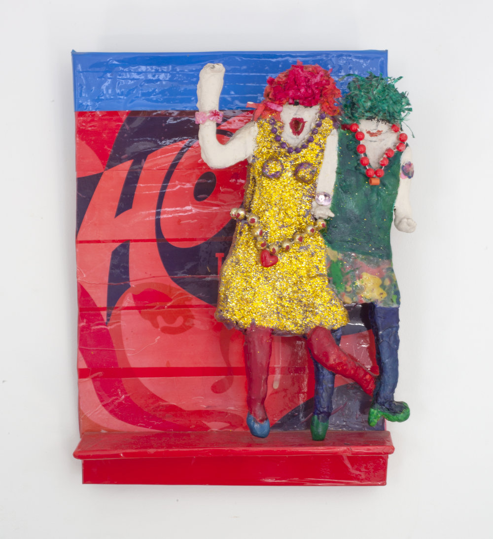 - Hot Togetherc. 2011Wood and mixed media11 ¼ x 9 x 3 ¼ inches