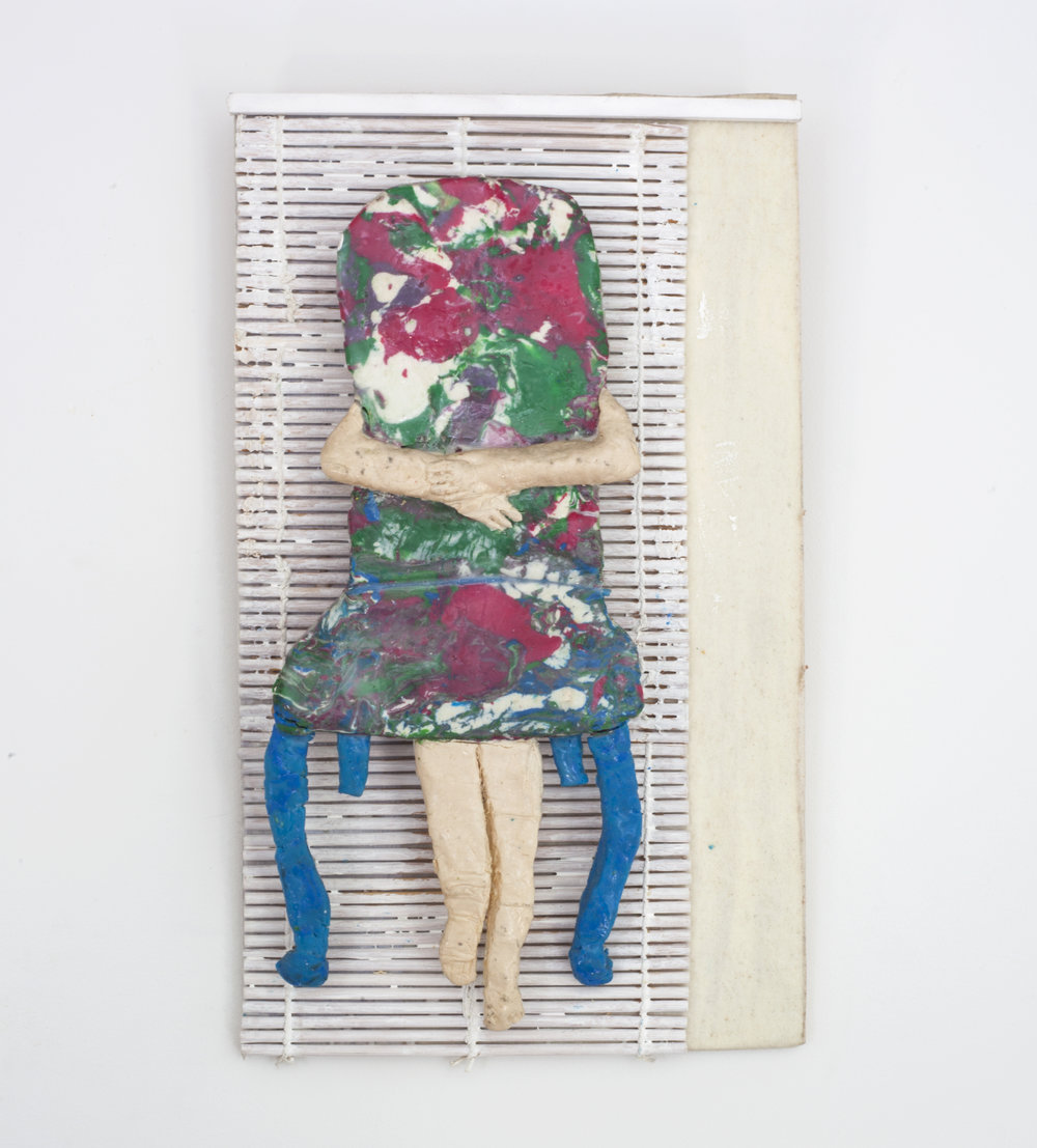 - Chair Huggerc. 2014Modeling clay and mixed media12 ¼ x 7 ½ x 2 inches