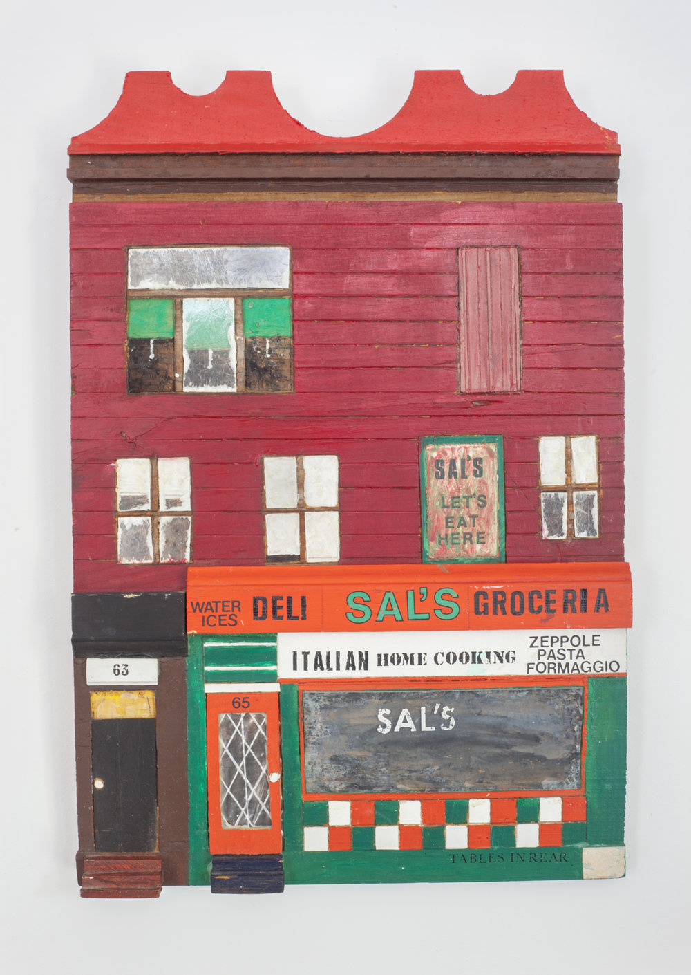 - Sal'sc. 2004Wood and mixed media17 ½ x 11 ¾ x 1 ¾ inches