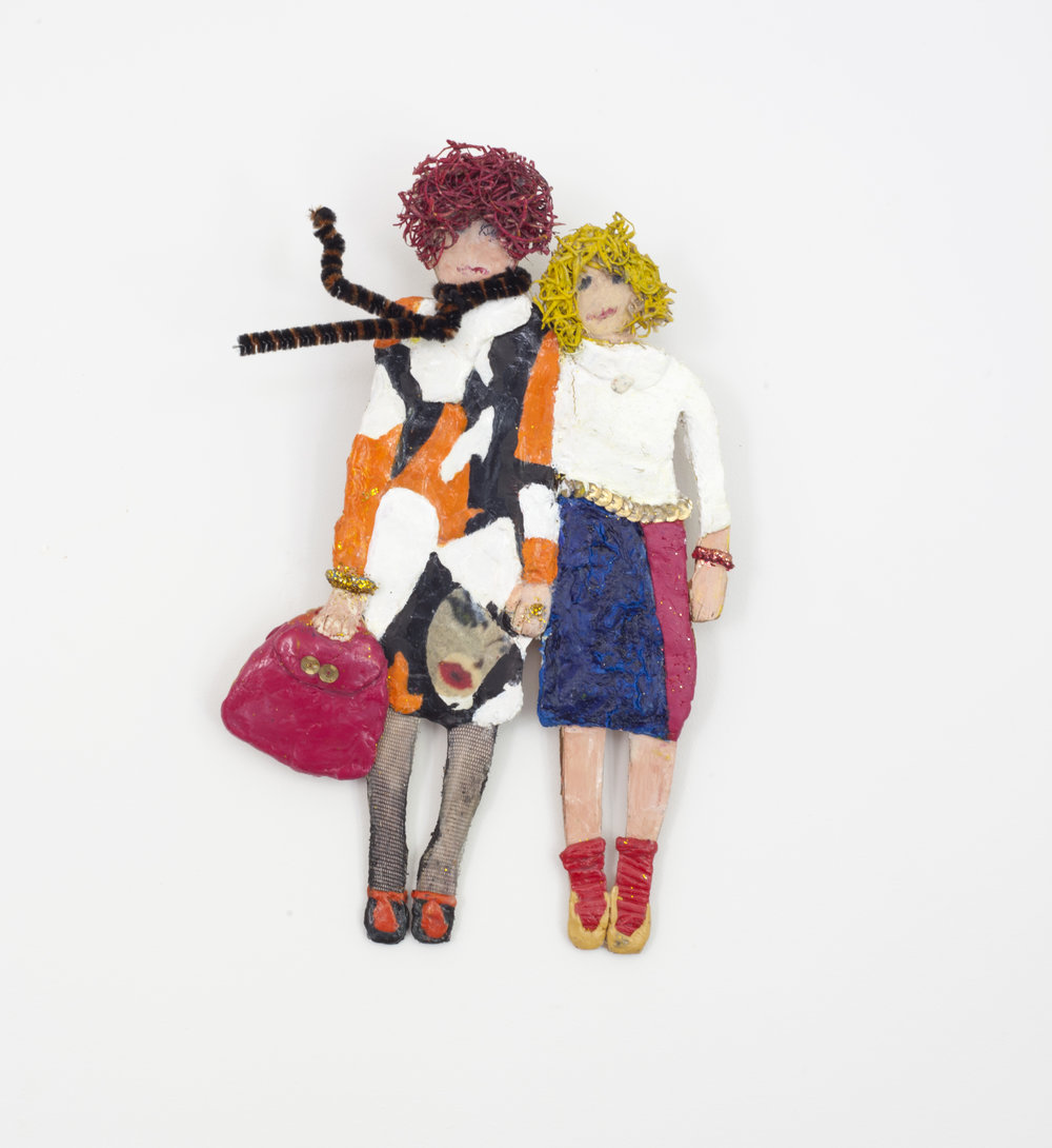 - Well Dressed Womenc. 2013Modeling clay and mixed media10 x 6 ½ x 2 inches