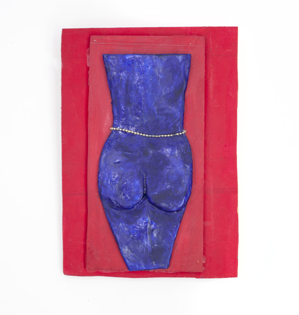 - Red Nudec. 2014Modeling clay and mixed media10 ¾ x 7 ¾ x 1 inches
