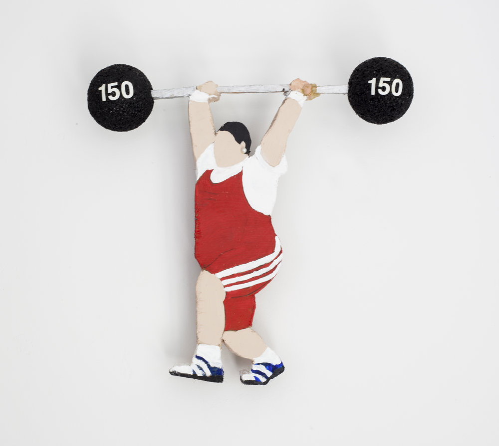 - Weightlifter2007Wood and mixed media9 ¼ x 9 x 2 inches