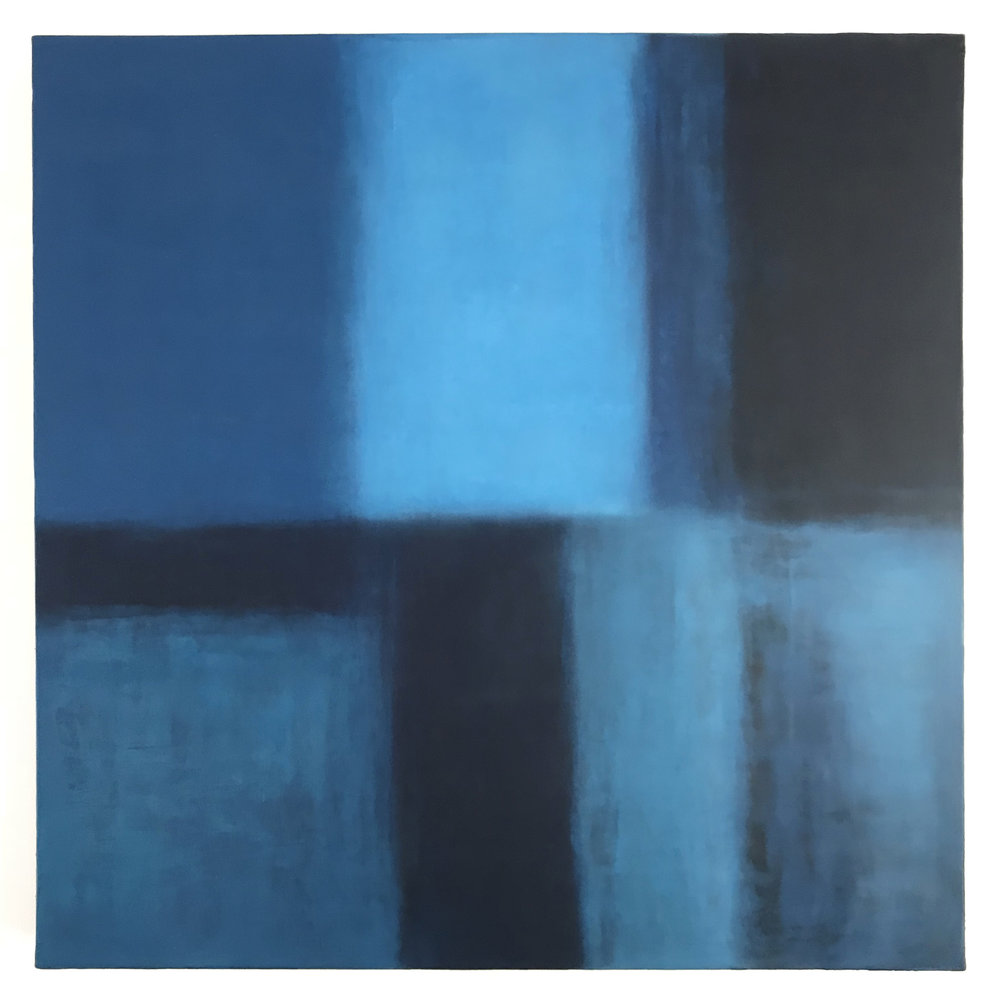 - Untitled (from the series The Blues)2018Oil and wax on linen24 x 24 inches
