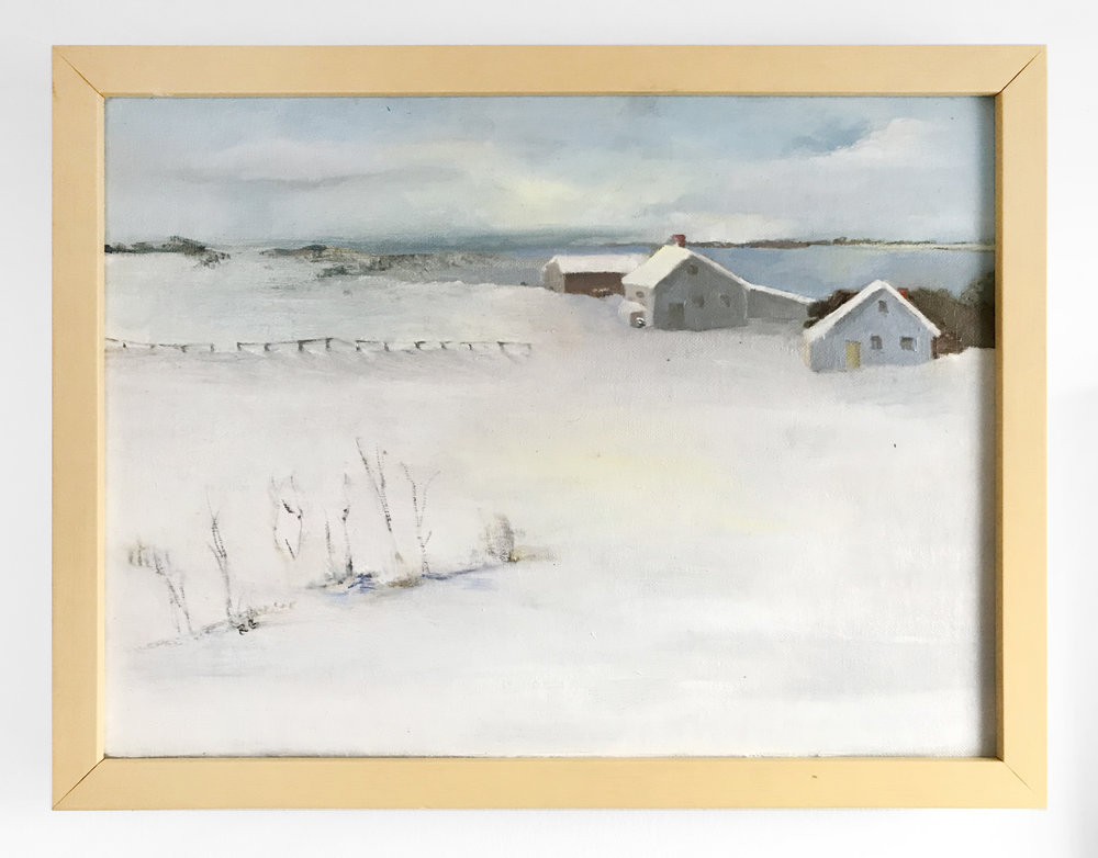 - Rosemary GabrielNorth Fork Winter2018Oil on canvas12 x 16 inches