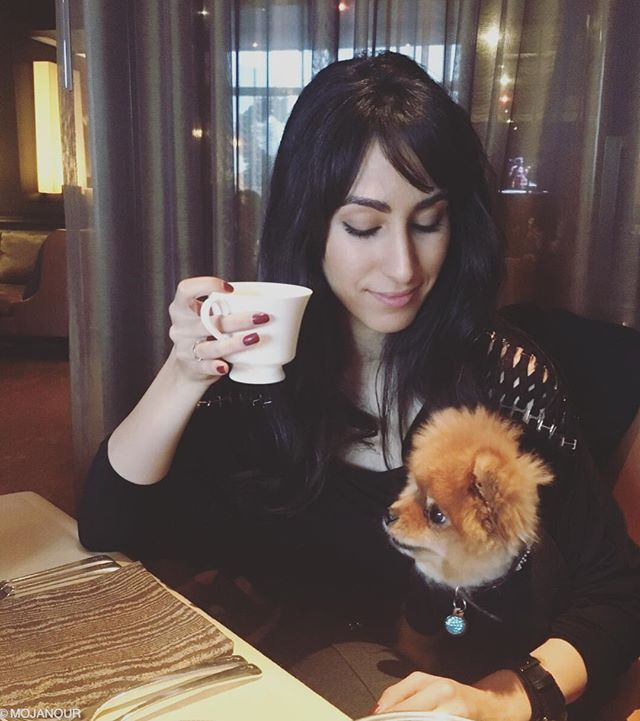 @RitzCarlton tea time with my #RideOrDie 💕 @littleluluchanel . . . Outfit: @marciano @guess  #yeswerematching #teatime #ritzcarlton #wefancy #Pomeranian #dogsofinsta #photooftheday #instagram #bff #puppiesofinstagram #pomeraniansofinstagram