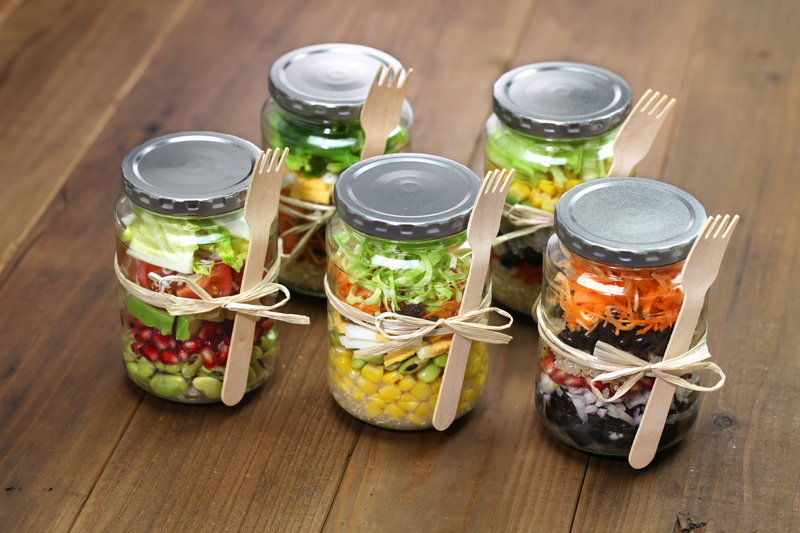 Create your own yummy salads-in-a-jar!