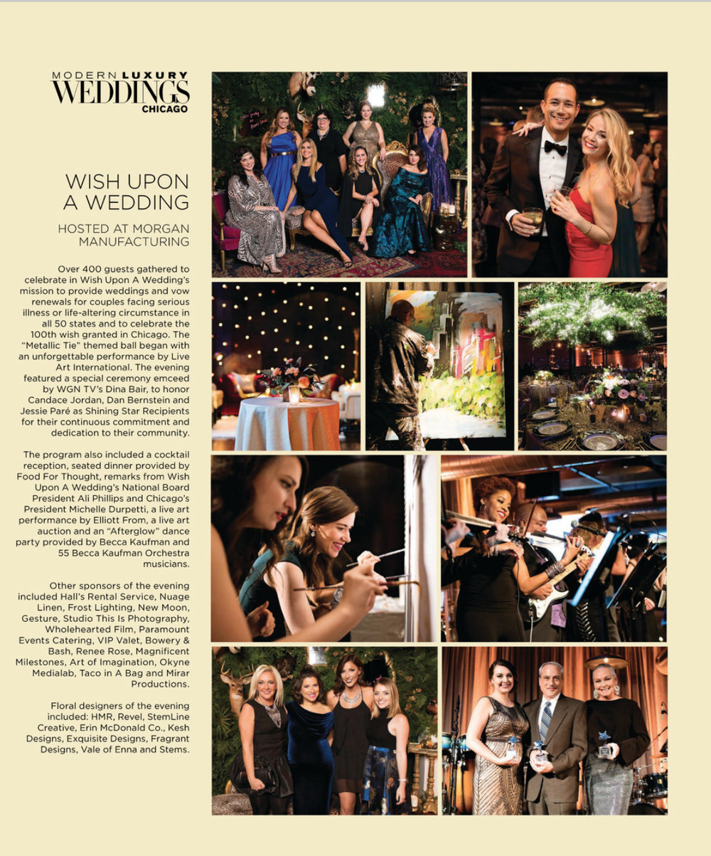 MISHA NEWGREN HAPPILY SERVED AS EVENT CHAIR OF 2016 WISH UPON A WEDDING GALA Thanks to  Modern Luxury Weddings Chicago  for the feature on the gala!