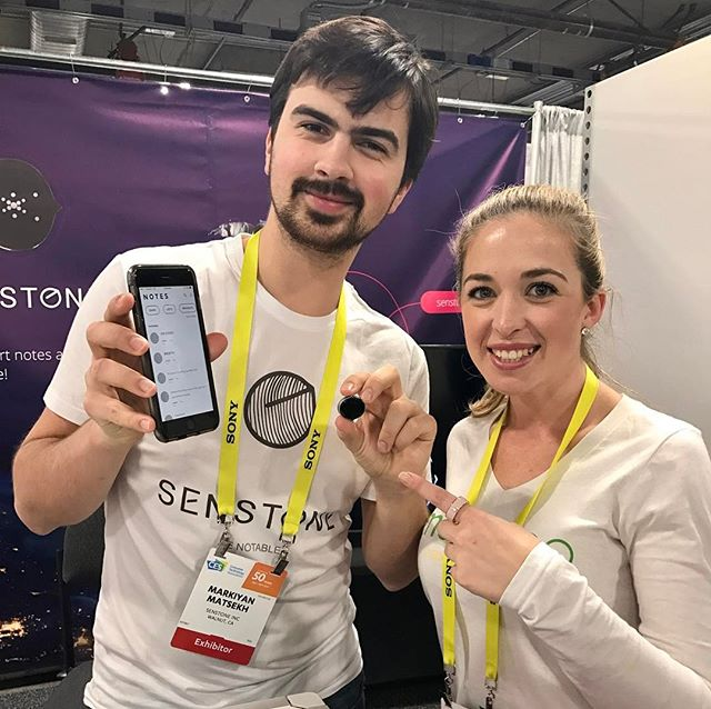 #CES2017 Day 4: @markiyanmatsekh it was awesome meeting you and learning about #senstone! Best of luck to you!