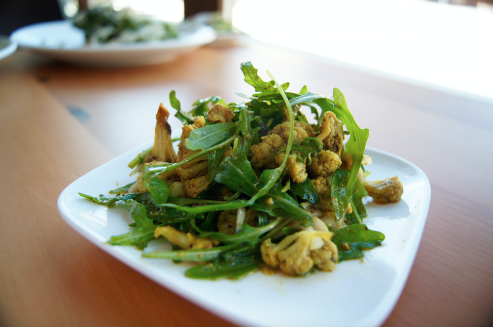 Roasted Cauliflower & Arugula Salad
