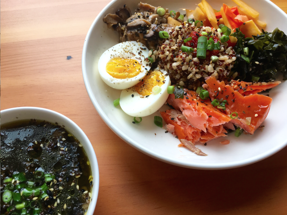 Japanese Breakfast Bowl at Root NW cafe