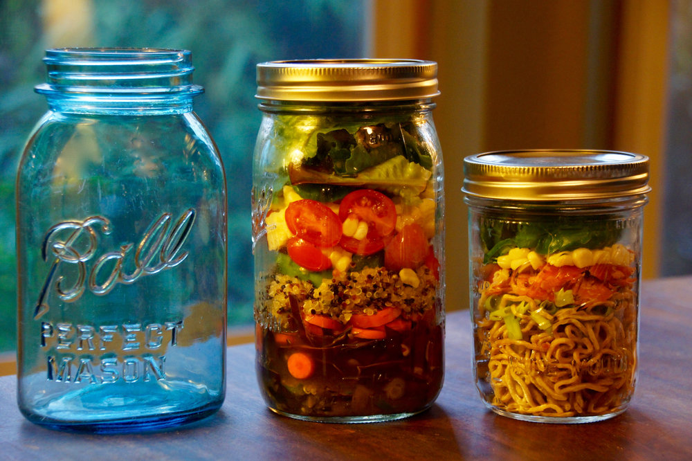 Mason Jar Salads and Noodles