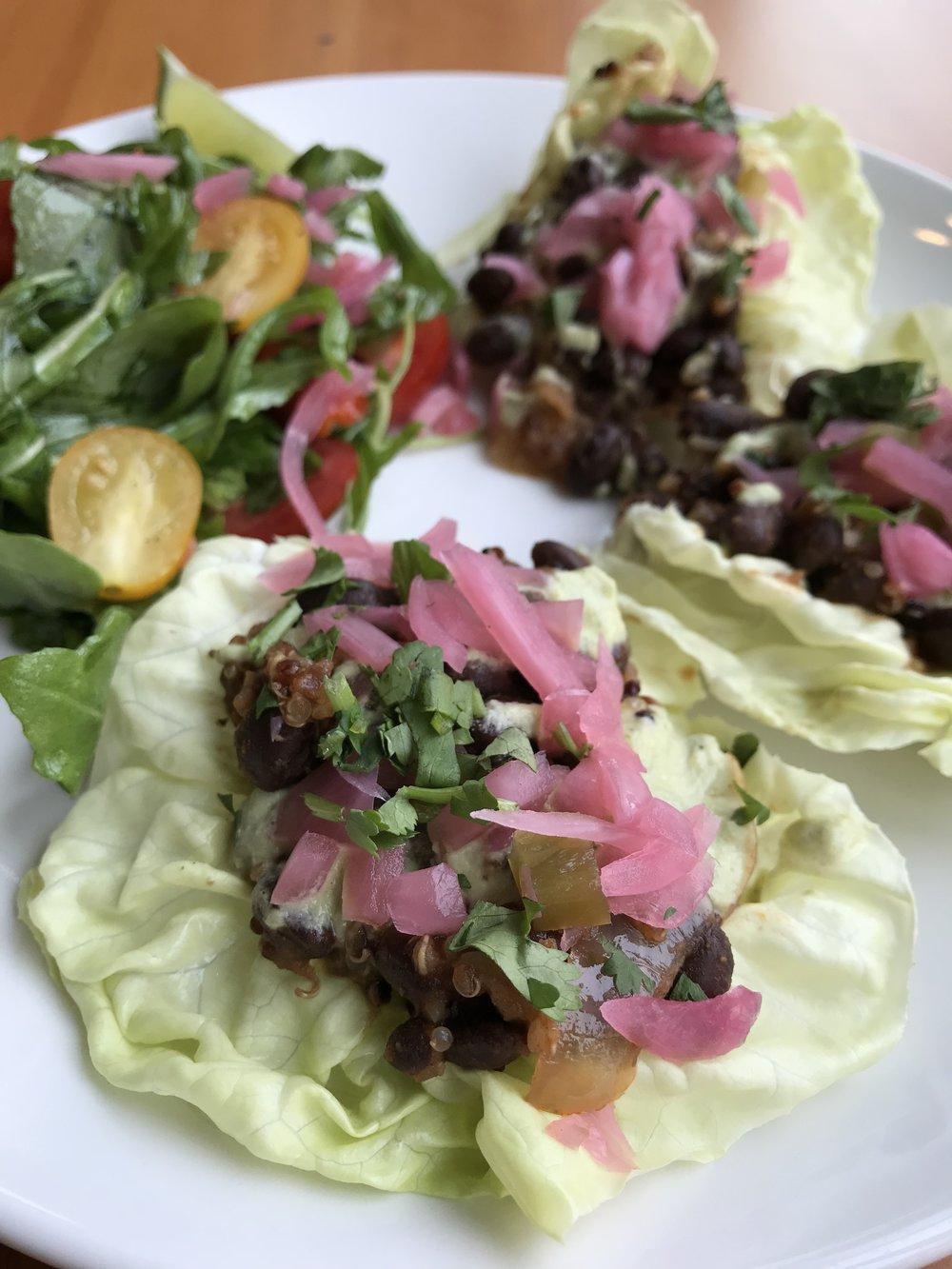 Black Bean & Quinoa Tacos