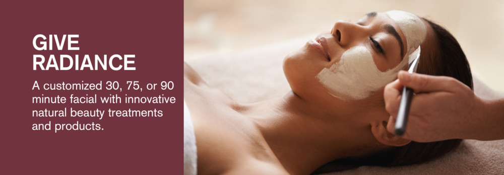 A customized Root Facial, featuring innovative treatment, such as LED, micro-channeling, facial cupping, high frequency, and ultrasonic, paired with naturally active skin care products. Nourish the skin, create glow & give radiance.  Click here  for more information on Root's organic skincare.