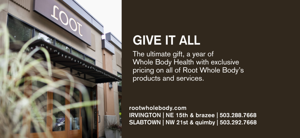 """For yourself or someone you love, give the ultimate gift: A year of Whole BodyHealth, providing access to exclusive pricing on all of Root Whole Body's """"one-stop"""" natural wellness products & services for just $149 per month."""