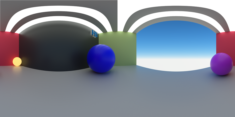 This HDRI was developed exactly where our object will be. Making the reflection accurate and convincing.