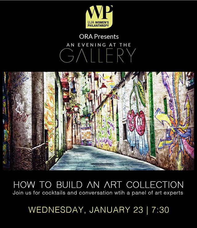 Looking forward to tomorrow night! Who is in? . . HOW TO BUILD AN ART COLLECTION / A conversation with artists and art experts / UJA Women's Philanthropy ORA . .  Message me for details
