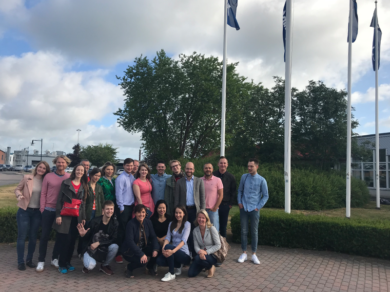 The team comprised of people from all across the world. Together they successfully completed 4 days of intensive training at the Kinnarps HQ in Kinnarps, Sweden.