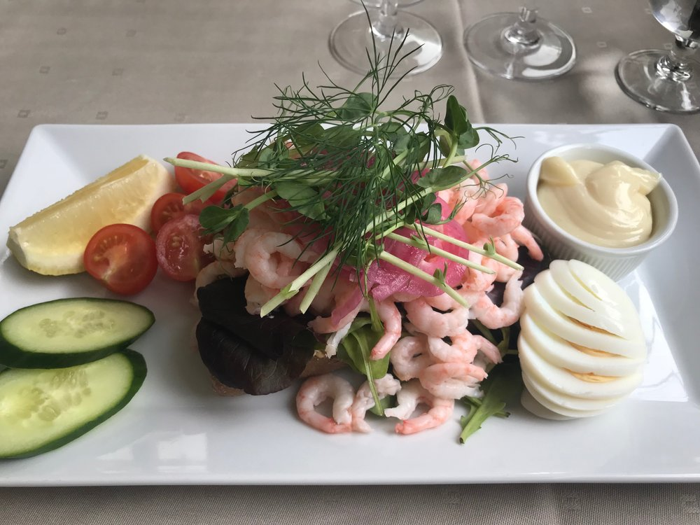 The famous Swedish prawn sandwich