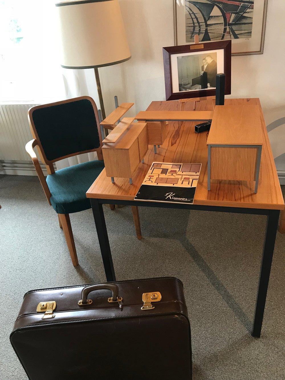 The miniature version of furniture that was made and travelled in a suitcase so that Kinnarp's founder Jarl could take them along when meeting prospective clients.