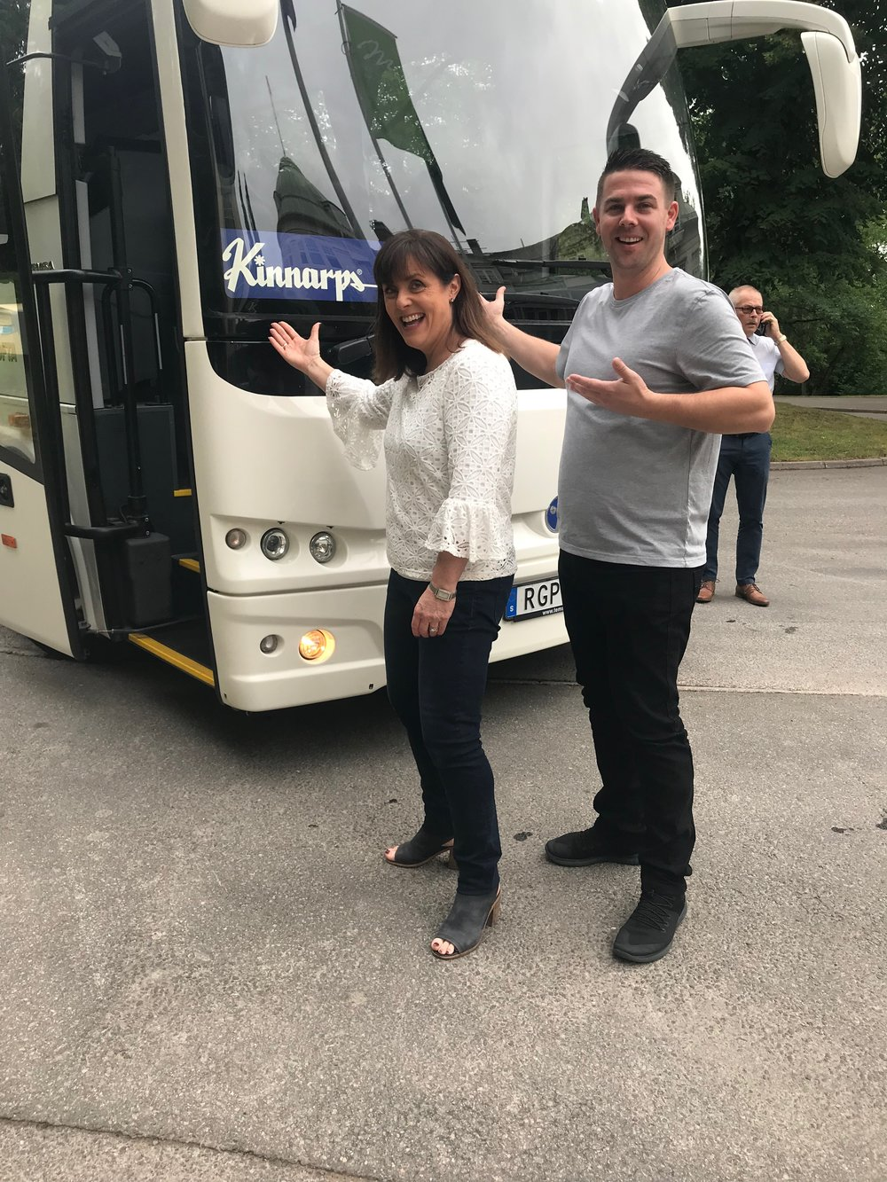 July 2018  KFive+Kinnarps   Joel and Lisa visit our brands in Europe   Two of our brilliant team members visited Europe to undergo their intensive Kinnarps training. Alongside their training, Joel and Lisa took the opportunity to visit some of our European brands and their factories.