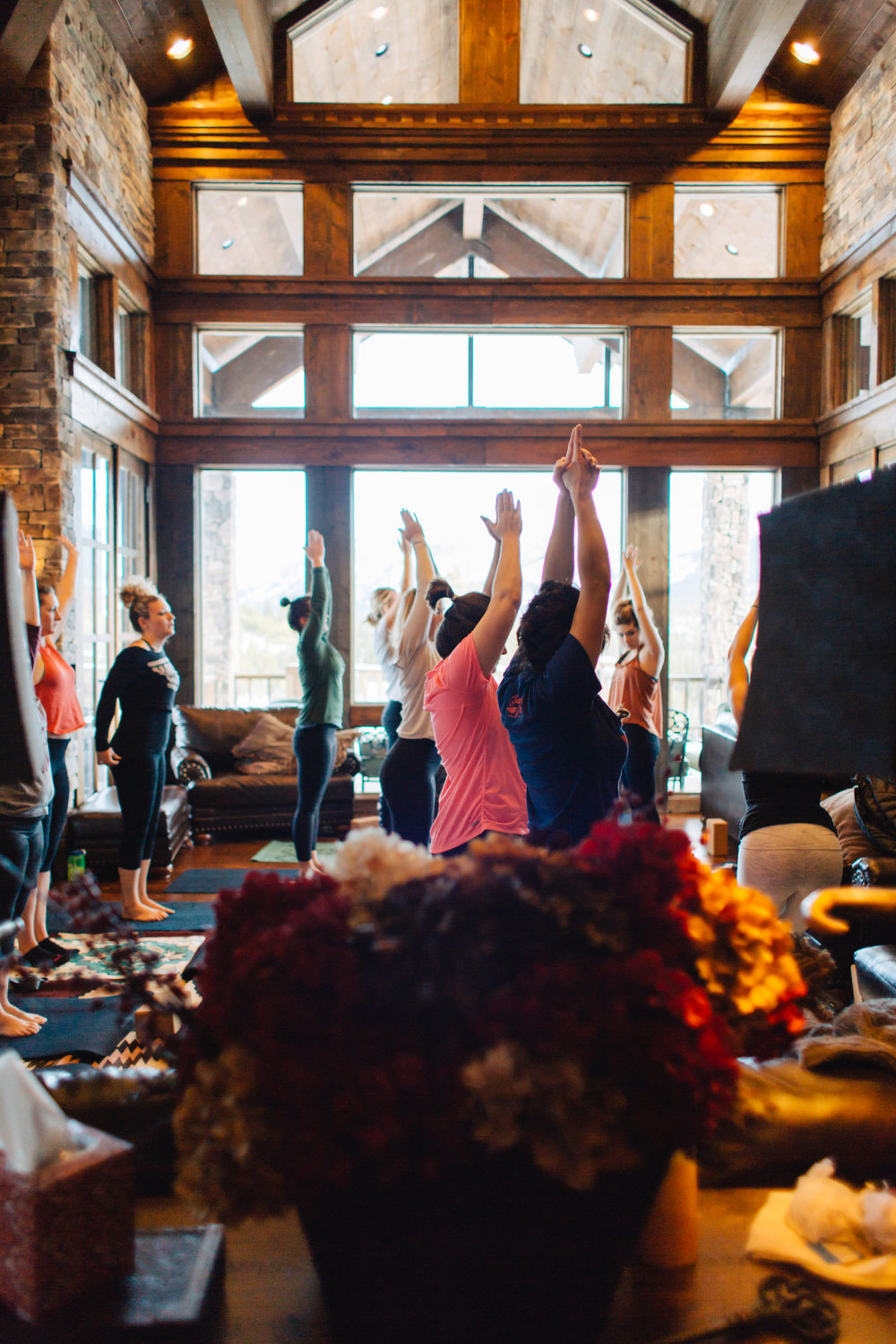 Yoga at the 2017 Retreat, Photo by Jessica Byrum