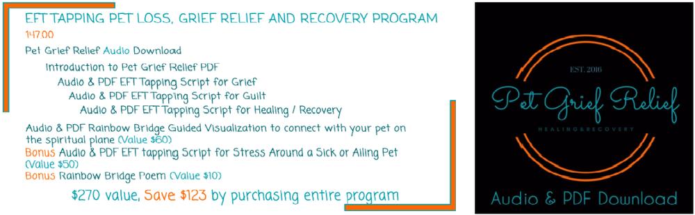 Pet Grief Relief EFT Tapping Audio Program