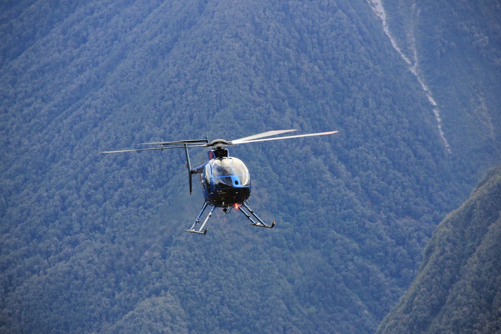 Helicopter assist hunting for Tahr & Chamois on our New Zealand Government Concession