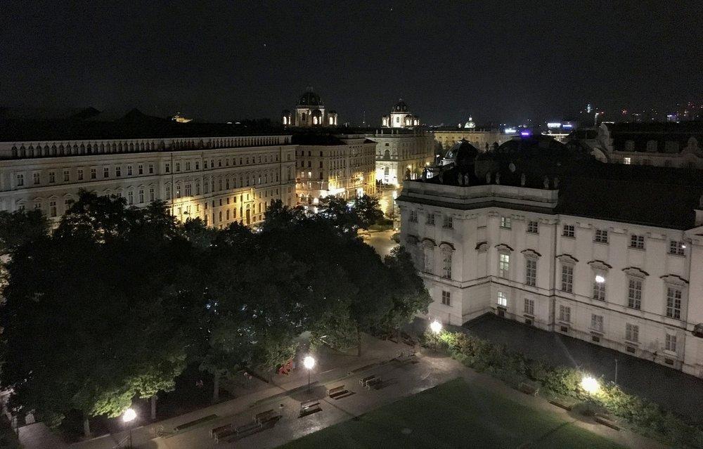 View from 25hours Hotel Museumquartier // Vienna, Austria