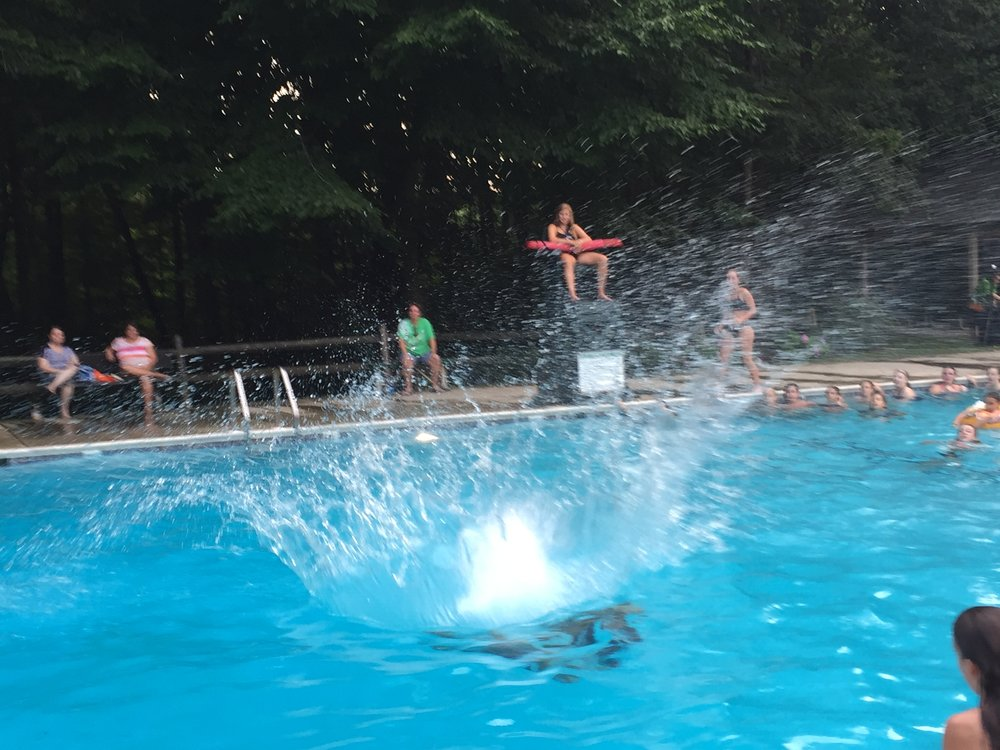 Middle School Night diving contest