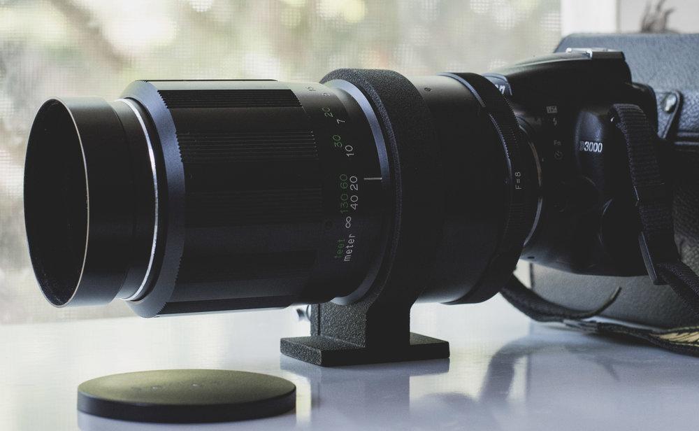 Soligor Mirror Lens 500mm on Nikon D3000