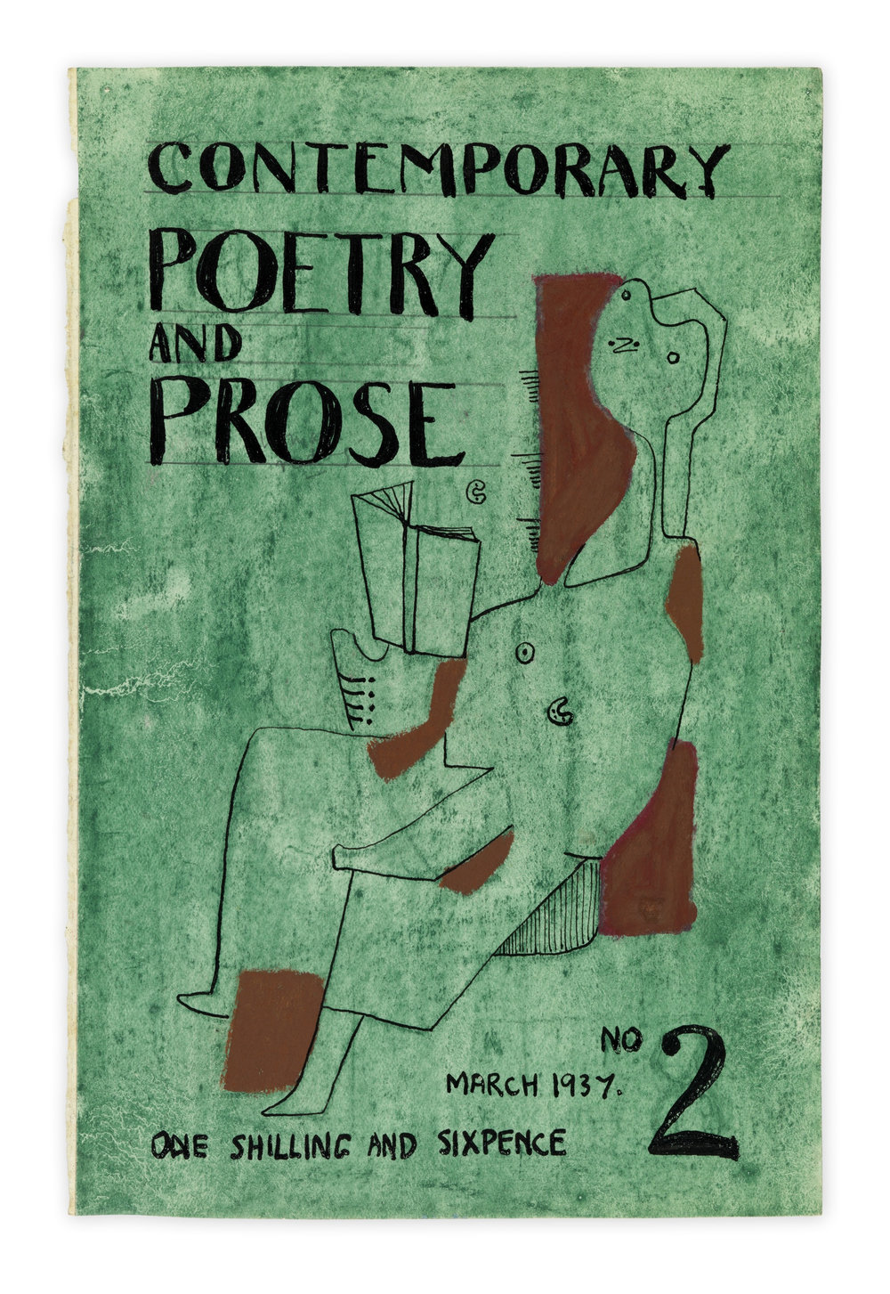 "Henry Moore, ""Cover Design for Contemporary Poetry and Prose"", 1937 Reproduced with permission of the Henry Moore Foundation. Courtesy Hauser & Wirth"