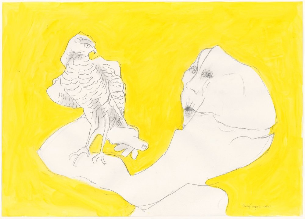 Foto: Bird of Prey, 2000, Albertina, Vienna © 2017 Maria Lassnig Foundation