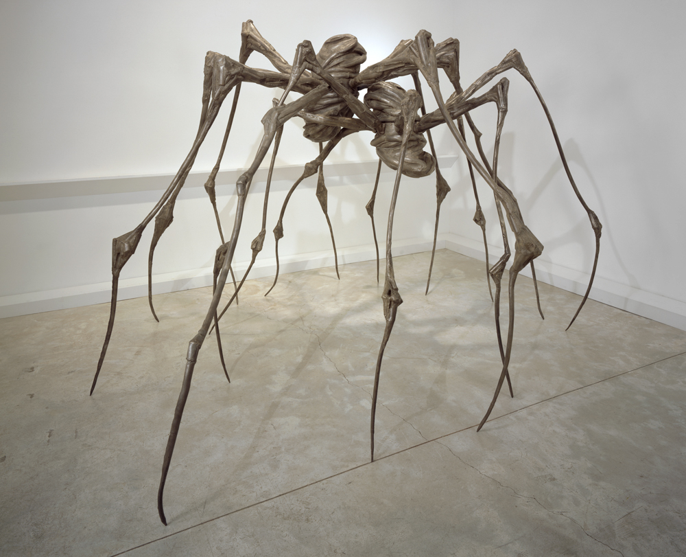 Louise Bourgeois SPIDER COUPLE, 2003 Steel 228.6 x 360.7 x 365.8 cm. Private Collection Photo: Christopher Burke, (c) The Easton Foundation/Licensed by VAGA, NY