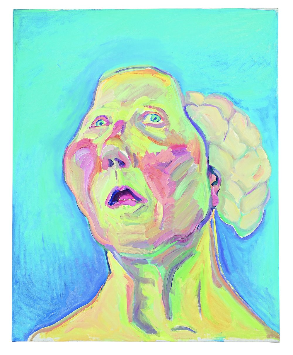 II. Lady with Brain (Dame mit Hirn), c. 1990, © Maria Lassnig Foundation