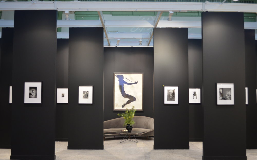 Installation view of Galerie Kicken's (Berlin) architectural designed stand