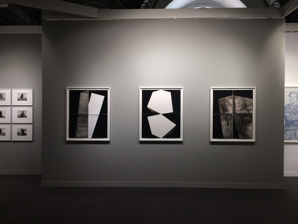 Installation view of Alison Rossiter's unique works, Yossi Milo Gallery, NYC