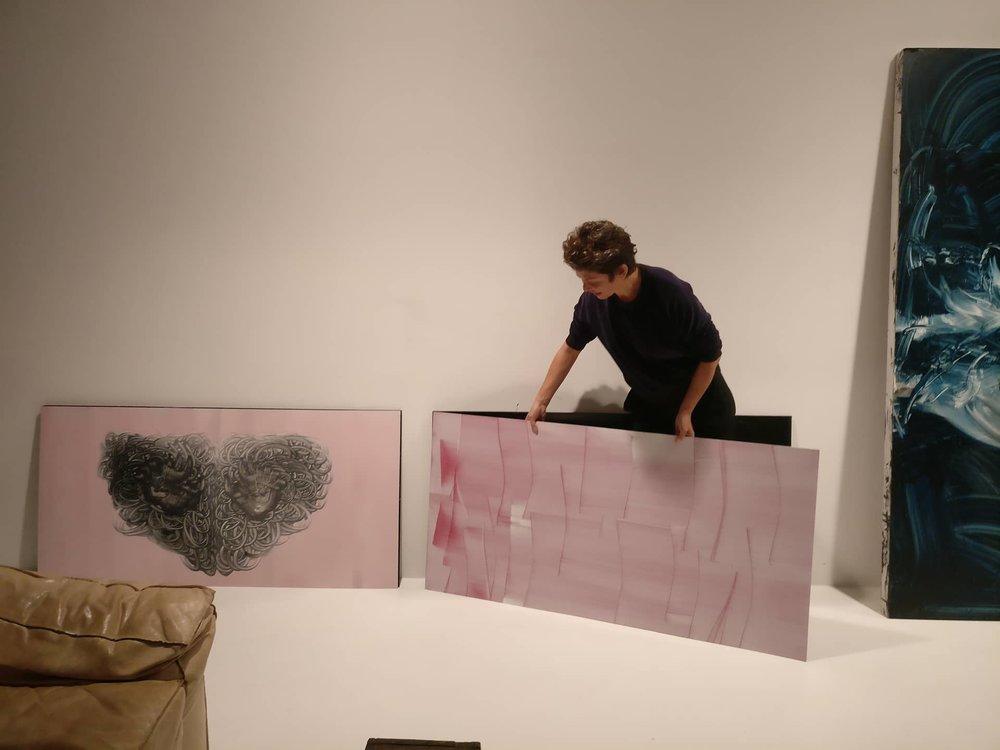 Miriam Cabessa in her studio