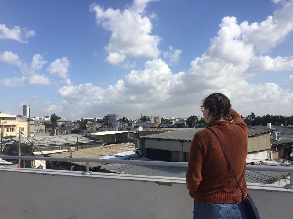 View from the roof of the Binyamini Center for Ceramics in Tel Aviv on a private tour