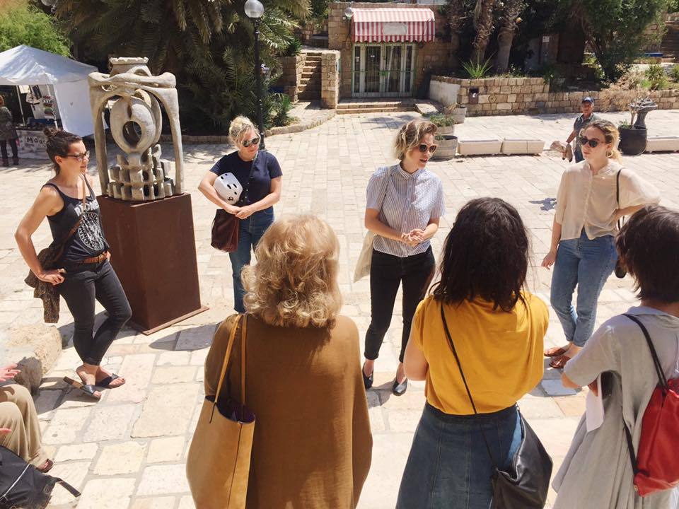 An Oh So Arty tour outside of Galerie Charlot in Jaffa