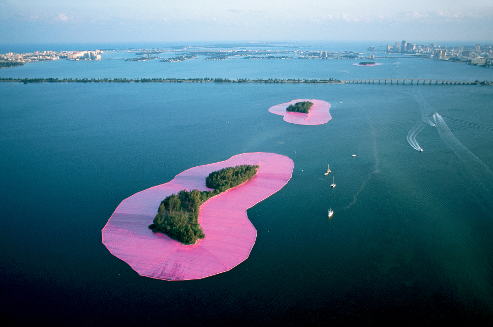 "the 35th anniversary of Christo and Jean Claude's ""Surrounding Islands"" commemorated at PAAM."