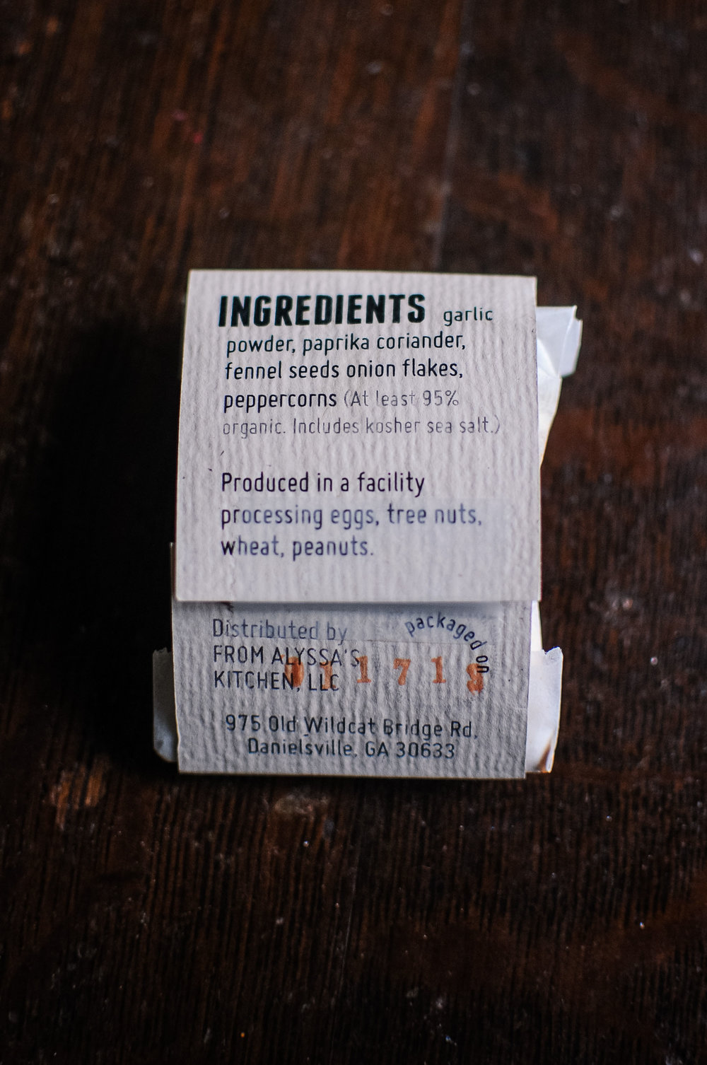 spice packet