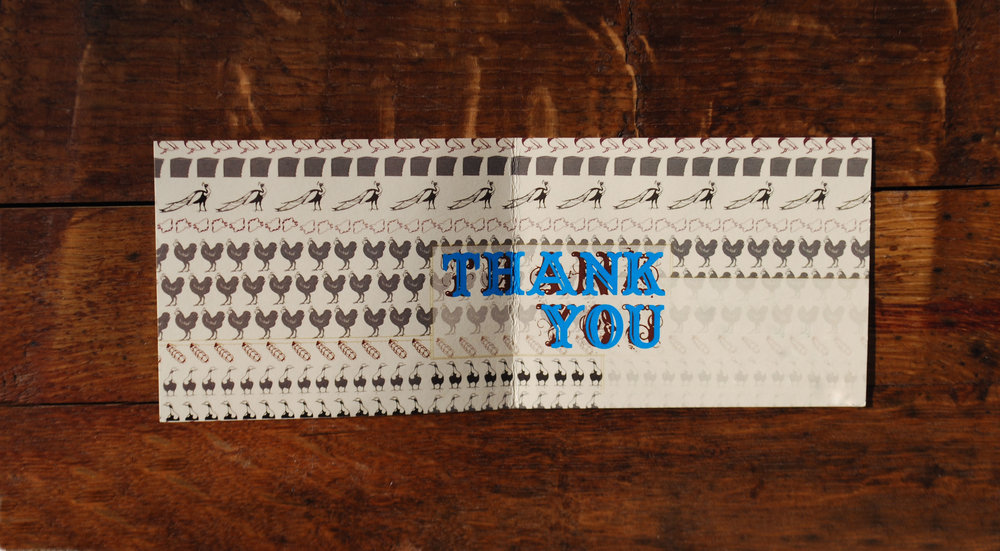thank you note interior