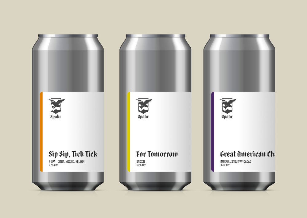 This label design allows for the flexibility of one-off releases.