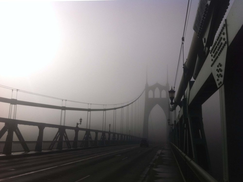 Even in the deep winter fog the St. Johns Bridge is stunning.