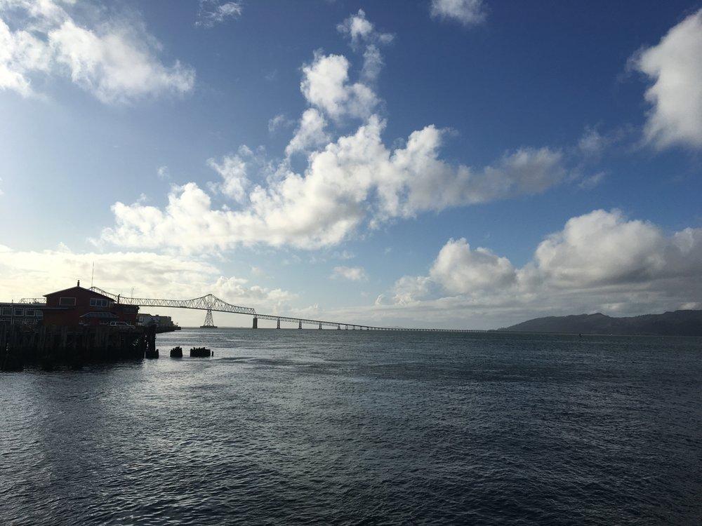 The mighty Columbia River and the  Astoria-Megler bridge